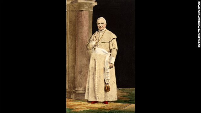 No. 1: Pope Pius IX reigned the longest of all popes, from 1846 to 1878, for a total of 31 years, 7 months and 23 days.