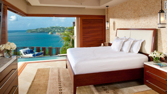 Check into a room with a romantic view at the couples-only Sandals La Toc Golf Resort &amp;amp; Spa in St. Lucia.