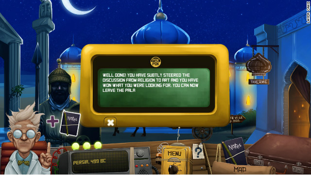 The game also teaches users to avoid culturally volatile subjects, such as religion and politics.
