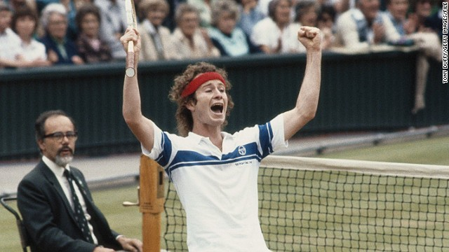 &quot;Wimbledon final in 1981 when I finally beat Bjorg.&quot; McEnroe defeated the Swede 4-6 7-6 7-6 6-4 to win at the home of tennis for the first of three times, his personal career highlight.