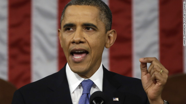 President Barack Obama delivers his State of the Union speech before a joint session of Congress.