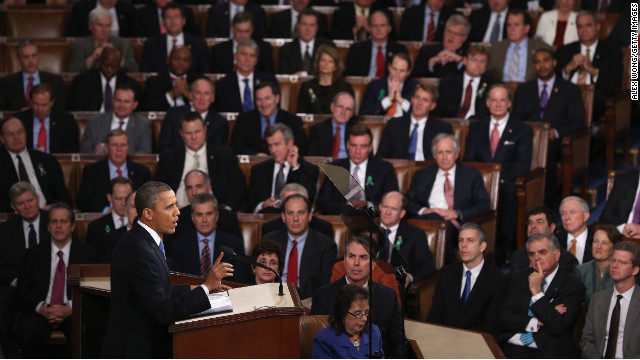 "Obama concentrated his speech on new initiatives designed to stimulate the U.S. economy and said, ""It's not a bigger government we need but a smarter government that sets priorities and invests in broad-based growth."""