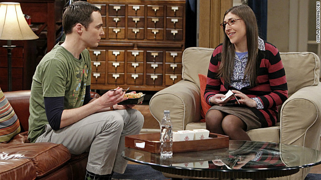 It was love at first sight for viewers of &quot;The Big Bang Theory&quot; when Sheldon Cooper (Jim Parsons) met the equally geeky, slightly more adventurous Amy Farrah Fowler (Mayim Bialik) via an online dating site. The series' producers have hinted about a big surprise for the couple this Valentine's Day.