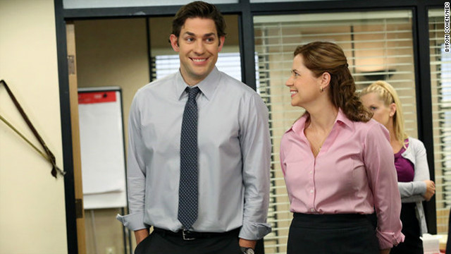 The &quot;will they or won't they?&quot; status of Jim Halpert (John Krasinski) and Pam Beesly (Jenna Fischer) remained the heart of &quot;The Office&quot; from early on. One wedding and two babies later, fans are wondering what will become of these two as the show comes to an end in May.