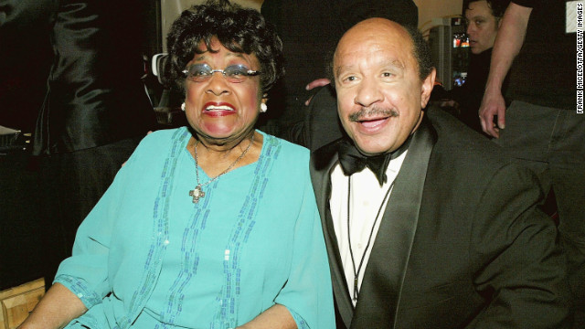 "Sure, their show's theme song was memorable, but George and Louise ""Weezy"" Jefferson (Sherman Hemsley and Isabel Sanford) also remain one of the most beloved sitcom couples of all time. (Here they are at the TV Land Awards in 2004. Sanford died later that year, and Hemsley passed away last year.)"