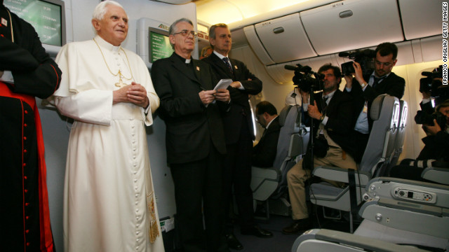Press conferences aboard papal flights are often the only chance Vaticanisti have of getting close to the pontiff.