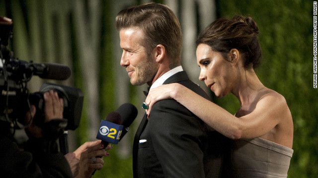 Together, soccer player David Beckham and his wife, Victoria (the fashion designer formerly known as Posh Spice), earn $54 million annually, according to Forbes.