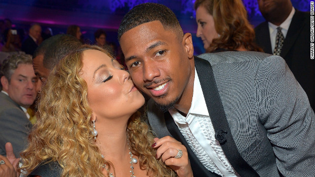 Nick Cannon attends Nickelodeon's 2012 TeenNick HALO Awards with wife Mariah Carey.