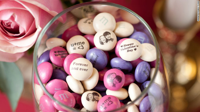 If you struggle to communicate your through chalky heart candy, try baring your soul with personalized M&amp;amp;Ms.