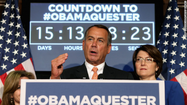 Boehner says sequester bad policy but punts to Senate Democrats
