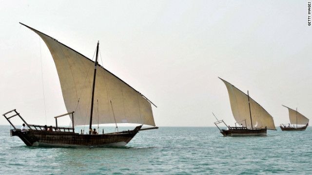 Adventurous couples may choose a pearl diving expedition in Bahrain on a traditional wooden sailboat -- called a dhow.