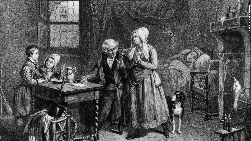 "In this illustration from about 1830, a doctor provides a vial of medicine for a sick woman. But medical treatments in the 19th and early 20th centuries looked a lot different than ones we see marketed today. From ""magic"" treatments to retro spectacles, check out some of these products sold in the United States about 100 years ago or more. They are kept at the Smithsonian's National Museum of American History."