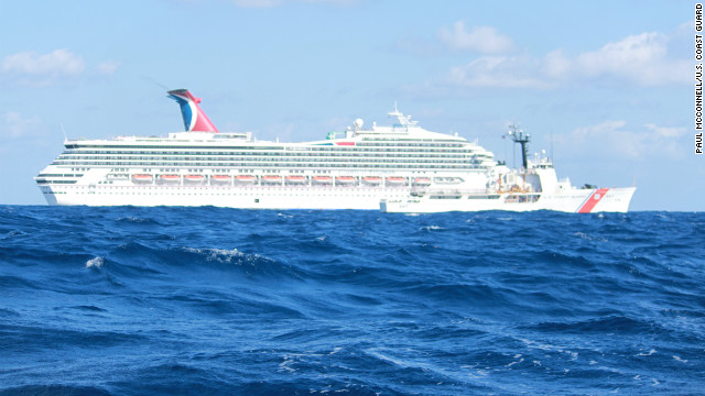 Passengers count hours on 'floating petri dish' of a cruise ship as it limps to shore