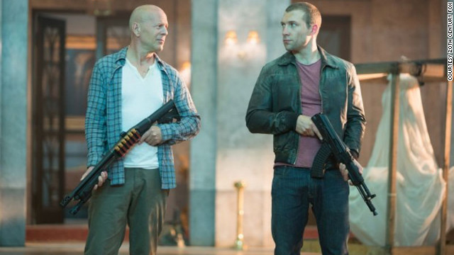 Bruce Willis stars as John McClane and Jai Courtney stars as Jack McClane in 