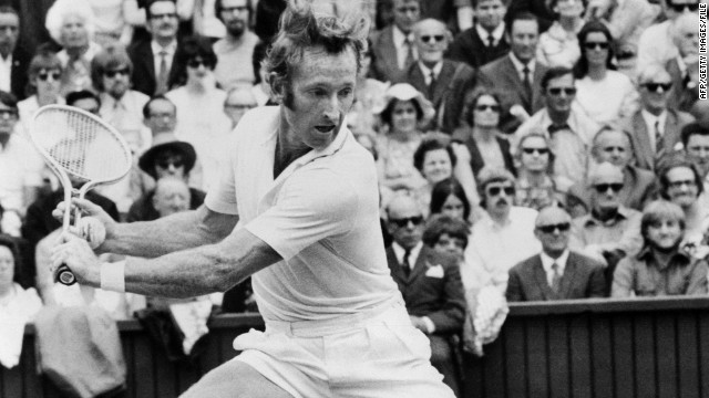 """My hero was Rod Laver."" The Australian twice completed the grand slam of winning Wimbledon and the French, Australian and U.S. Opens in the same year -- the only player, male or female, to do so."