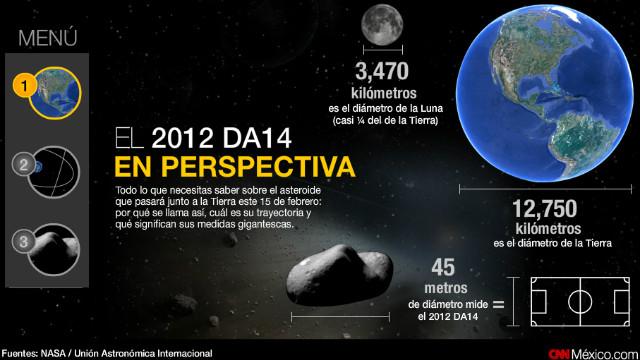 """Todo lo que debes saber sobre el asteroide 2012 DA14 que """"rozará"""" la Tierra"""