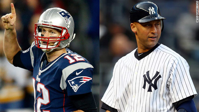 """Derek Jeter (right) and Tom Brady,"" McEnroe says of his most admired current sports stars. ""I think they're incredible team players. I'm an individual but for me to see how they make everyone around them better ... you don't hear anything about them off the field, it's impressive."""