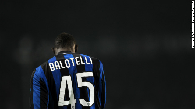 "Before moving to England, the Italy-born Balotelli played for AC Milan's rivals Inter Milan, and during one Serie A match against Juventus the Turin club's fans once shouted: ""There are no black Italians."""