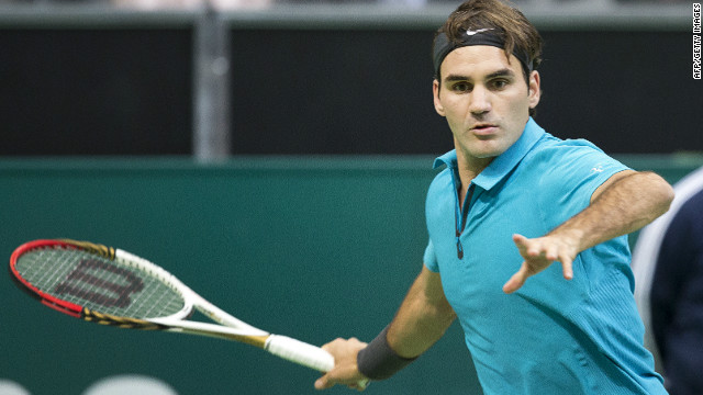 Roger Federer is on course to retain his World Tennis Tournament in Rotterdam after reaching the last eight