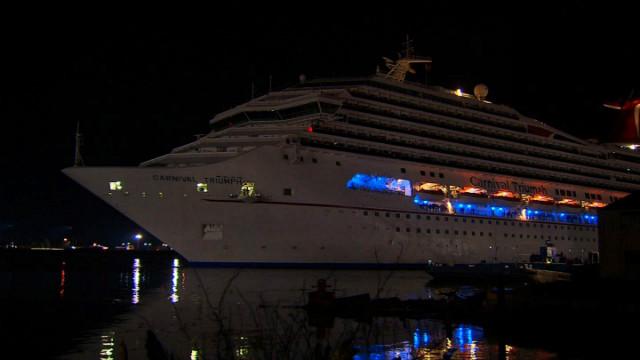 El crucero Triumph regresó al puerto de Mobile, Alabama