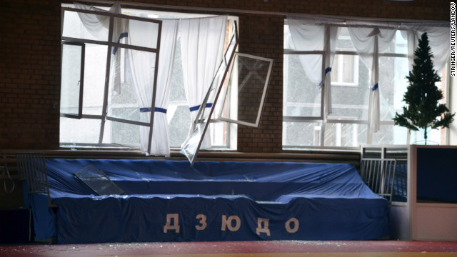 The meteor damaged windows at a sports hall.
