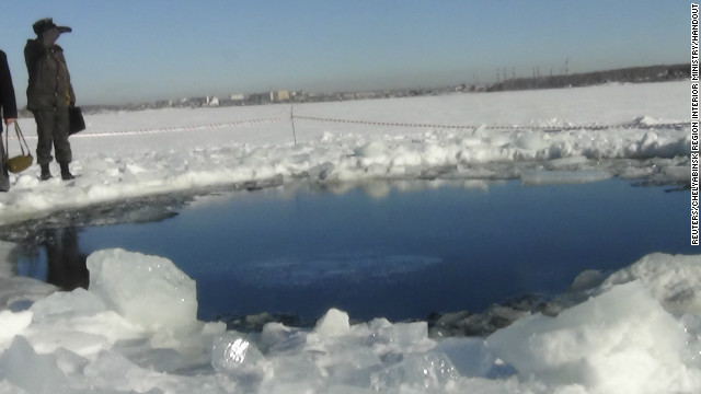A large chunk of a meteor that exploded over Russia is found in a late on Friday, February 15.