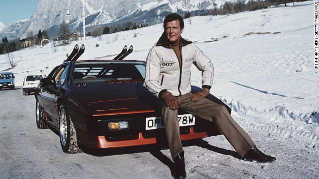 Roger Moore played Bond for some of his most enthralling ski scenes