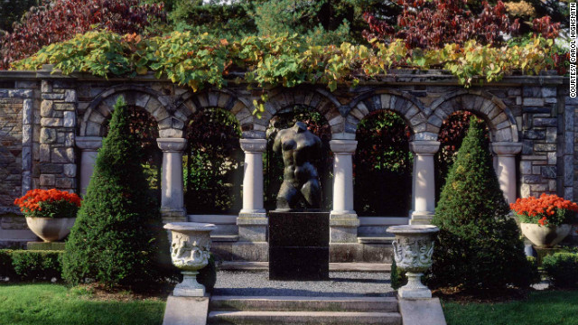 Maillol's &quot;The Torso&quot; from 1906 is among the sculptures positioned across the lawns at Kykuit.