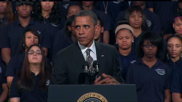Obama dice que crear oportunidades es la clave para eliminar la pobreza y la violencia