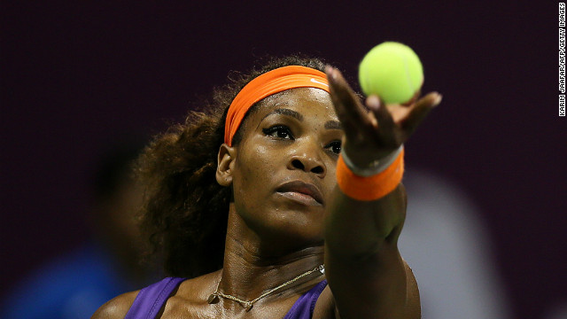 Serena Williams powered past Maria Sharapova to reach the final of the Qatar Open on Saturday.