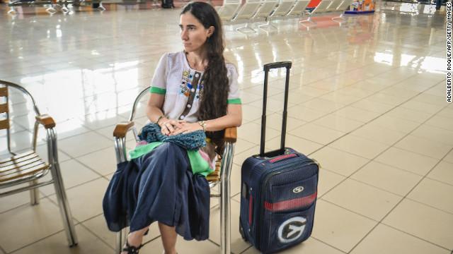 Yoani Sánchez niega que EEUU pague sus viajes