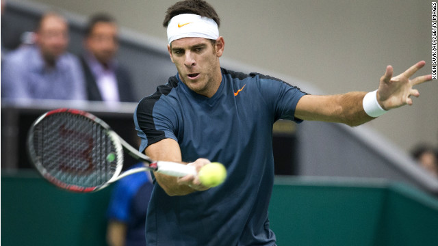 Juan Martin Del Potro defeated France's Julian Benneteau to clinch the title at the Rotterdam Open.
