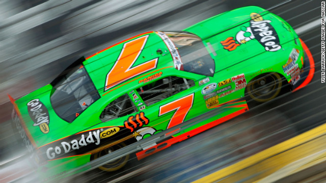 Patrick drives during practice for the History 300 in 2012 in Concord, North Carolina.