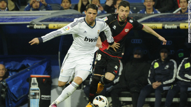Cristiano Ronaldo failed to add to his impressive goal tally during Real Madrid's 2-0 win over Rayo Vallecano.
