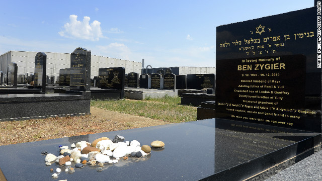 The headstone of Ben Zygier in the Chevra Kadisha Jewish Cemetery in Melbourne