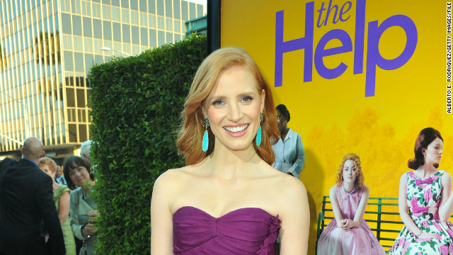 Chastain, 35, received her first Academy Award nomination -- for best supporting actress -- for her role as Celia Foote in 2011's &quot;The Help.&quot; Here, she attends the premiere in Beverly Hills in August 2011.