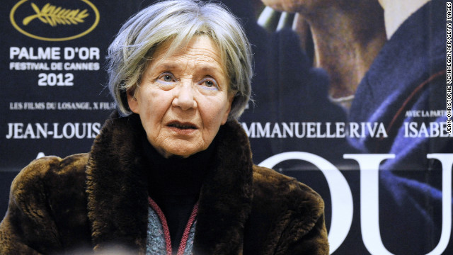 "After more than 50 years in the business, the actress earned her first Academy Award nomination for her role in ""Amour"" (2012). Here she appears at a press conference in January."