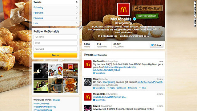 Their kingdom for a secure password – Burger King Twitter account hacked