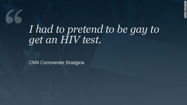 One commenter on a story about youths and HIV testing said they didn't find it easy to obtain an HIV test.