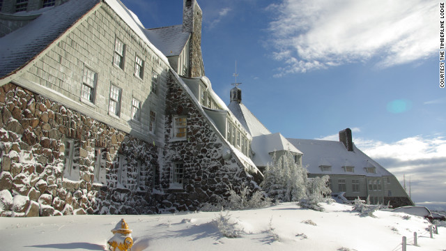 "Timberline Lodge acted as the exterior of the Overlook Hotel in the movie adaptation of Stephen King's novel ""The Shining."""