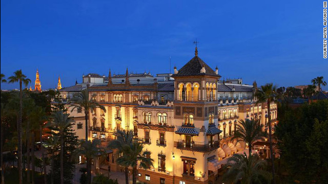 "Hotel Alfonso XIII in Seville, Spain, is featured in the 1962 film ""Lawrence of Arabia."""