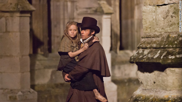 Paris is one of the big stars in the movie adaptation of &quot;Les Miserables.&quot; Hugh Jackman plays Jean Valjean, and Isabelle Allen plays a young Cosette.