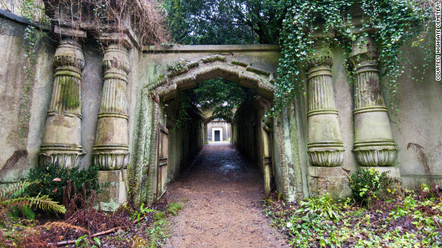 There's a Dickensian feel, and content, to Highgate Cemetery.