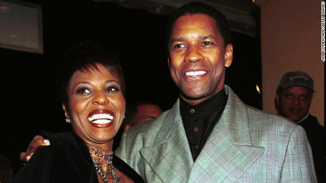 "Denzel Washington's latest role as Whip Whitaker in ""Flight"" earned the two-time Academy Award winner his sixth Oscar nod to date. Washington, pictured with his wife Paulette in 1999, has been acting since the mid-1970s."