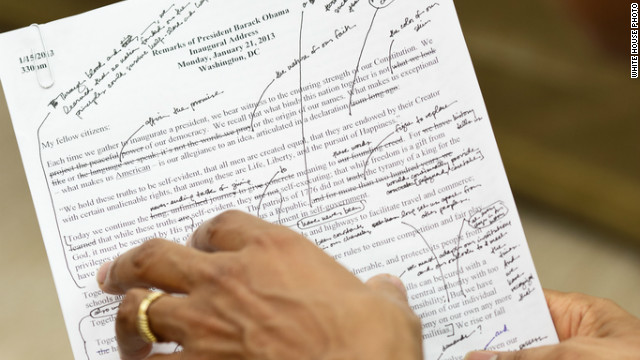 Photo: Obama&#039;s handwritten notes
