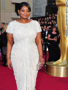 Octavia Spencer wowed in a Tadashi Shoji gown at the 2012 Academy Awards, where she won an Oscar for her role in &quot;The Help.&quot;