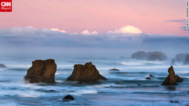 Jennifer King went on a trip to explore and photograph the Oregon coast. When she found Bandon Beach, she was impressed by the beach's &quot;incredible sea stacks, multiple vista points plus public beach access that allowed visitors to walk along the coast.&quot;