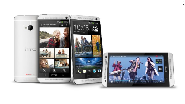 HTC's flagship phone, which runs the Android Jelly Bean operating system, has a 4.7-inch display screen and a souped-up camera with a countdown timer for better selfie pics. It's not available on Verizon, however.