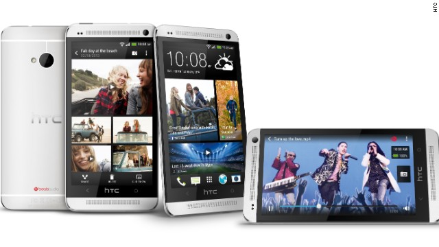 The HTC One, unveiled on Tuesday, has a 4.7-inch display screen, runs Android and has a souped-up