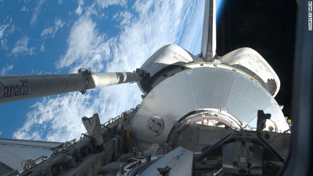 In March 2001, a space shuttle delivered the station's second crew and brought the first one home. It also brought Leonardo, the station's first Multi-Purpose Logistics Module, to the station. Leonardo carried supplies and equipment.
